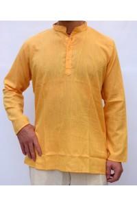 Pánská bavlněná košile, žlutá, vel.M,L,XL
