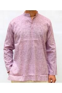Pánská bavlněná košile, fialová žíhaná, vel.M,L,XL
