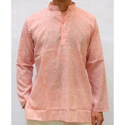 Pánská bavlněná košile, lososová, vel.M,L,XL