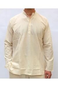 Pánská bavlněná košile, přírodně bílá, vel.M,L,XL,XXL