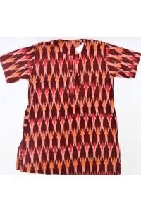 Chlapecká kurta-košile, vínová-ikkat, vel.26