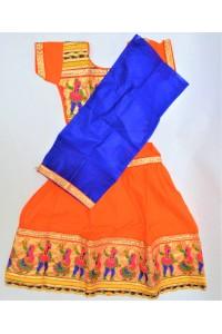 Veselé, holčičí polosárí Gujarat, oranžové vel.22