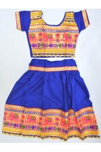 Veselé, holčičí polosárí Gujarat, tmavě modré vel.24