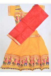 Veselé, holčičí polosárí Gujarat, žlutý vel.24