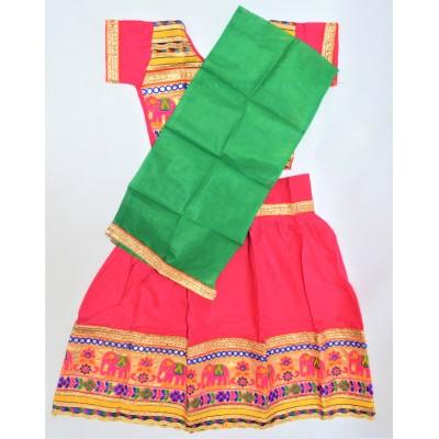 Veselé, holčičí polosárí Gujarat, magenta vel.26