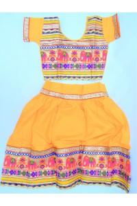 Veselé, holčičí polosárí Gujarat, žluté vel.28