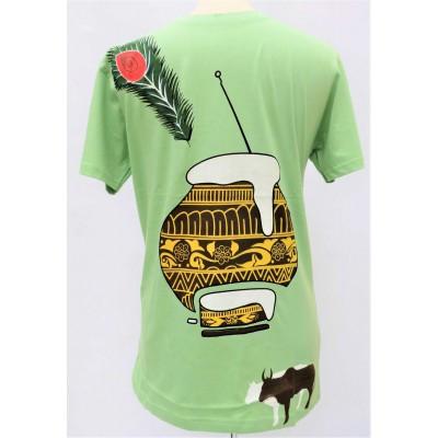 Pánské triko zelené s potiskem, vel.M