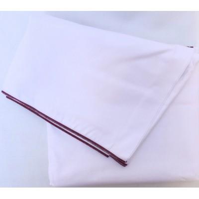 Dhotí z pevné bavlny - tenký vínový okraj