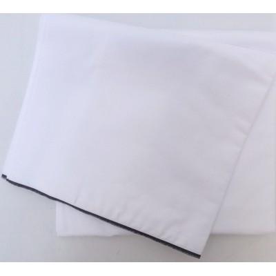 Dhotí z pevné bavlny - tenký černý okraj