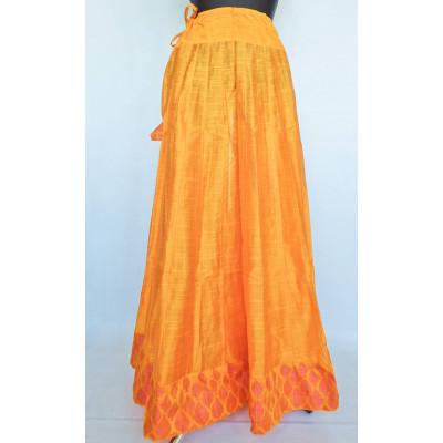 Krásná panelová, kolová sukně, žlutá vel. S, M, L, XL