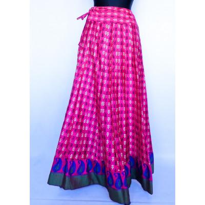Bohatá panelová, kolová sukně s potiskem malinová vel. S, M, L, XL