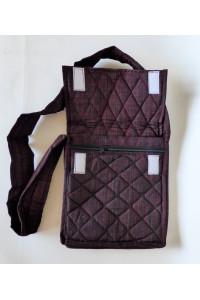 Parikramka - taška pro poutníky , černo červená - 29 x 25 cm
