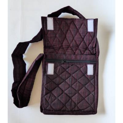 Parikramka - taška pro poutníky , černo červená - 29,5 x 27 cm
