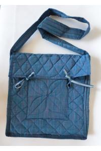 Parikramka - taška pro poutníky , kovová modrá - 38 x 35 cm