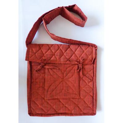 Parikramka - taška pro poutníky , měděně oranžová - 38 x 35 cm
