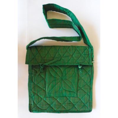 Parikramka - taška pro poutníky, zelená - 38 x 35 cm