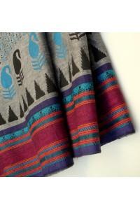 Bavlna s potiskem - šedá