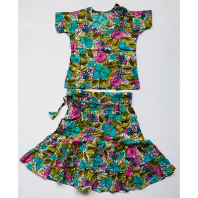 Květinový dívčí set - sukně s kurtičkou, vel.16,32