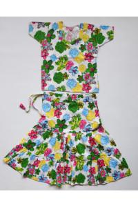 Veselý květinový set sukně s kurtičkou, vel.16, 20, 24