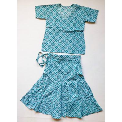 Zelený set sukně s kurtičkou, vel. 20,24,28