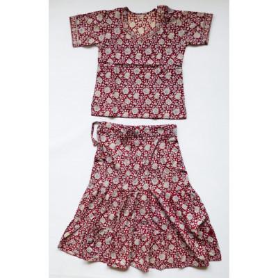 Vínový set sukně s kurtičkou, vel. 24, 32