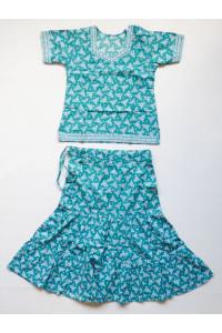 Zelený set sukně s kurtičkou, vel. 24, 32