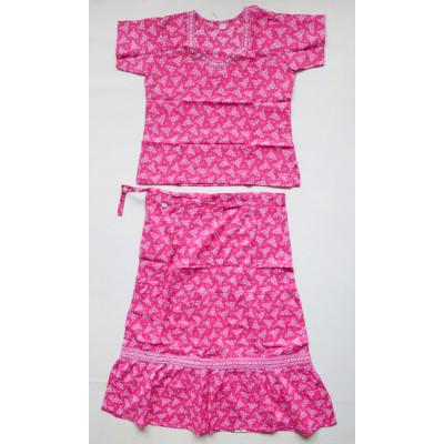 Veselý růžový set sukně s kurtičkou, vel. 28