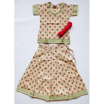 Krásný, krémový set sukně s kurtičkou, vel. 20