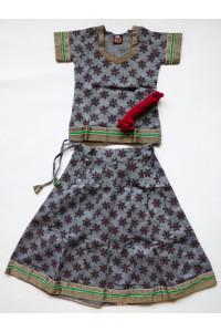 Elegantní jihoindický set sukně s kurtičkou, vel. 20