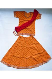 Veselý jihoindický set sukně s kurtičkou, vel. 28