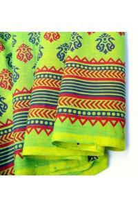 Bavlna s potiskem - modro-zelená