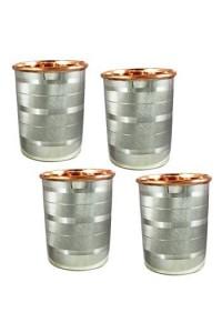 VÝPRODEJ - Nerezový pohár na vodu s vnitřní stěnou z mědi 2 dcl