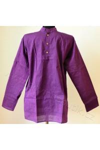 Pánská košile - jihoindická bavlna, filaová vel. M, XXL