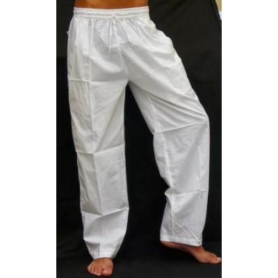 Pohodlné pánské kalhoty - bílé, vel.M,L,XL,XXL