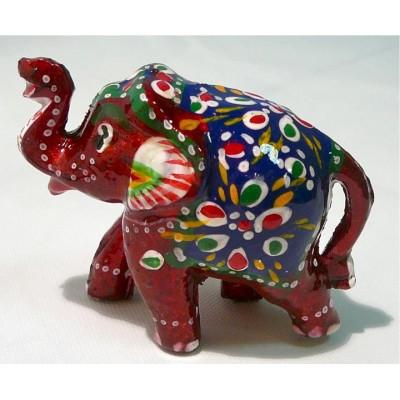 Vínový, malovaný slon ve 3.velikostech