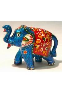 Tyrkysový ozdobený slon ve 2.velikostech