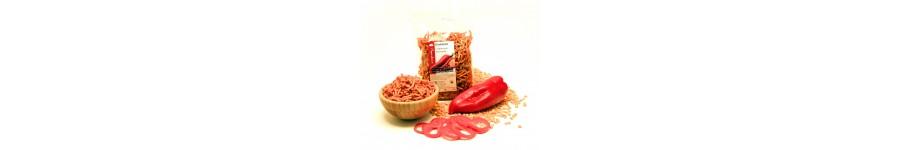 Luštěninové pochoutky - nudličky, čipsy, chuťovky